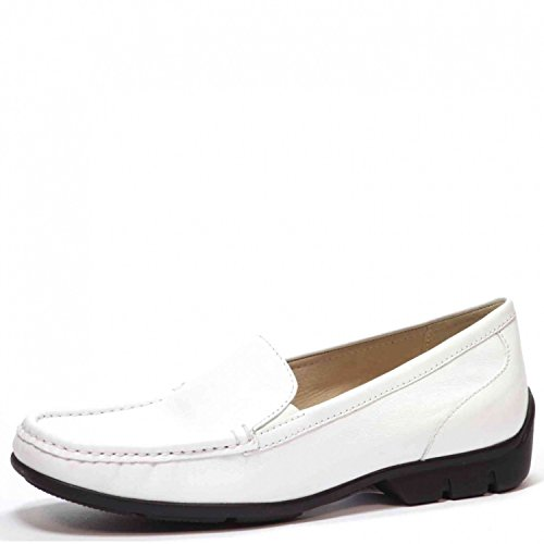 Donne Caprice 23654 Derby Mocassini Scarpe Basse Bianche 24663 Bianco