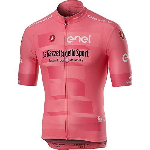 Castelli #Giro102 Rosa Giro Squadra Jersey - Men's Rosa Giro, M (Jersey Face Cycling)