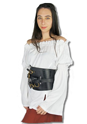 Leonardo nbsp;mujer Carbone Weiß Cuanna Medieval nbsp;– Blusa Mercado ZrZOqw