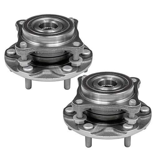 TUCAREST 515040 x2 (Pair) Front Wheel Bearing and Hub Assembly Compatible 2010-2016 Lexus GX460 03-09 GX470 05-15 Toyota Tacoma 03-16 4Runner 07-14 FJ Cruisers [4WD 4x4 AWD 6 Lug W/ABS]