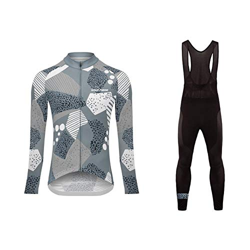 Uglyfrog Clothing Womens Cycling Jerseys, Long Sleeve Cycle Tops, Mountain Bike/MTB Shirt,+Long Bib Pant Set Reflective Biking Bicycle Clothes