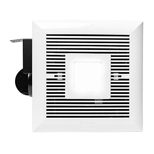 Monarchy MH-B01 Bathroom Ceiling Fan: 120 CFM Bathroom Ventilation & Exhaust Fan with LED Light |Modern Slim Design & Double Hanger Bar|Easy Installation Ultra Quiet Bath Ventilator Fans