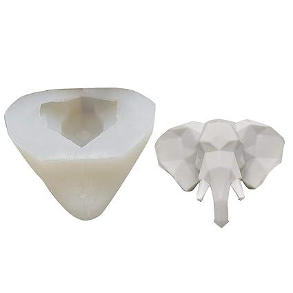 wonderfulwu - Molde de Silicona para Tarta de Chocolate, diseño de Cabeza de Elefante,