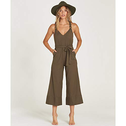 Billabong Women's Bella Day Overall, Olive, S by Billabong