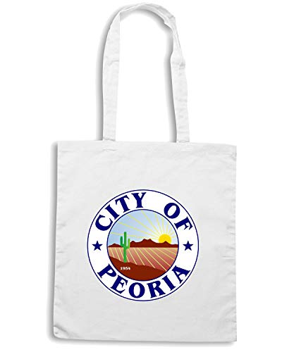 CITY TM0054 Borsa PEORIA Shirt Speed Shopper CITTA Bianca OF Xa4fnv