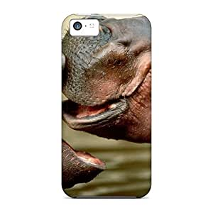Premium Durable 2 Hippopotamus Fashion Tpu Iphone 5c Protective Case Cover