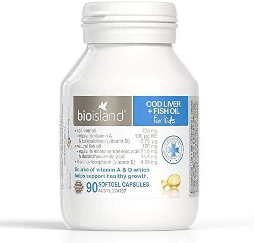 Bio Island Cod Liver + Fish Oil 90 Capsules