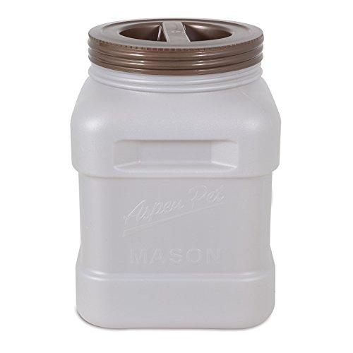 40 Lb Storage (Petmate Aspen Pet Mason Food Storage Jar, Smoke Bin/Bronze Lid, 40 lb)