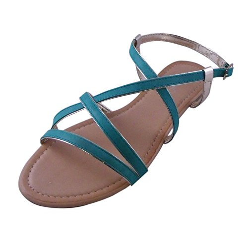 Un Sandalo Piatto Con Sandalo Piatto Decorato A Punta