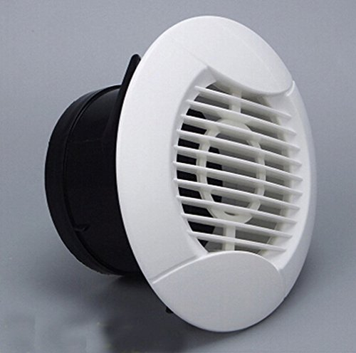 75mm Round Wall Air Vent Bull Nose Bathroom Extractor Outlet Grille Louvres Wall Ceiling Mount Air Vent Cover Outlet Exhaust Grille,Ducted Heater Aircon Vent/Air inlet Circular air (Inlet Grille)