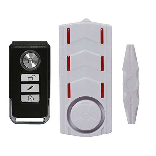 Wsdcam Wireless Rechargeable Vibration and Magnetic Alarm Anti-Theft Remote Control Door And Window Security Alarm with Sound and Light