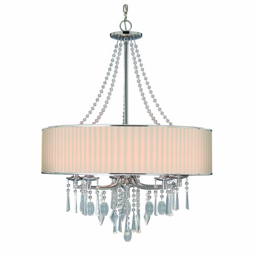 Cheap Golden Lighting 89815BRI  Chandelier with Crystal And Bridal Veil Shades,  Chrome Finish