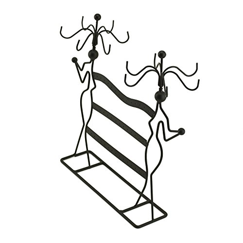 Adorox Earring Holder Jewelry Organizer Necklace Hanger Wall Stand Rack Black Classic Display (Black Necklace Stand) Photo #3