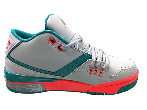 Nike Jordan Flight 23GG juventud Wolf Grey/Bright Crimson/esmeralda Athletic zapatillas WOLF GRAY/CRIMSON-EMERALD GREEN