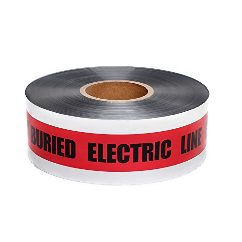 Swanson DETR31005 3-Inch by 1000-Feet 5-MIL Detectable Tape Caution with Buried Electric Line Below Red/Black Print - Electrical Line