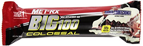 Met-RX Big 100 Colossal Meal Replacement Bar, Cookie and Crunch, 12 Count
