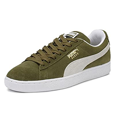 PUMA Mens Olive Suede Classic Sneakers
