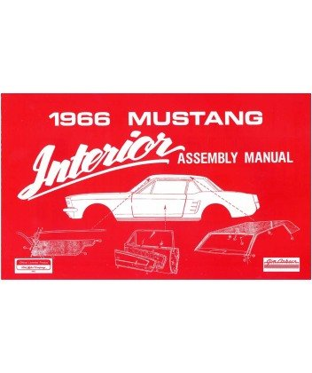 amazon com 1966 ford mustang interior assembly manual book automotive rh amazon com ford mustang manual or automatic transmission 2005 ford mustang manual book