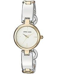 Anne Klein Womens AK/2699SVTT Two-Tone Open Bracelet Watch
