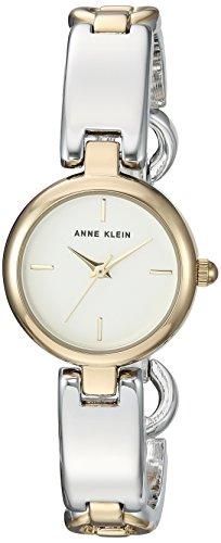 Silver Tone Open Link Watch (Anne Klein Women's AK/2699SVTT Two-Tone Open Bracelet Watch)