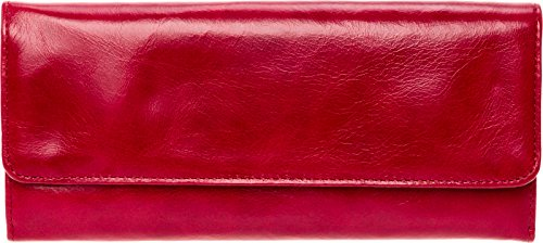 Hobo Womens Leather Sadie Continental Clutch Wallet (Cardinal) by HOBO