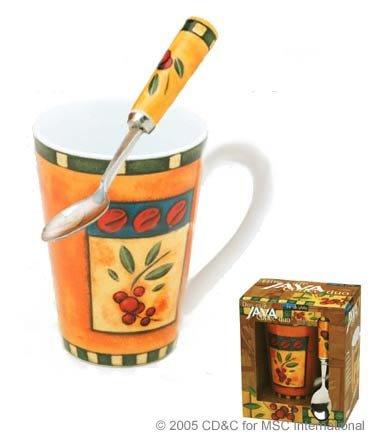 Java cafetera Duo - Juego de taza y cuchara por MSC: Amazon.es: Hogar