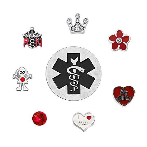Corykeyes RN Nurse Floating Charms Set For Glass Living Memory Lockets (Love Nurse) (Origami Owl Valentine Charms)