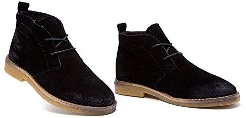 Fangsto Oxford Boots, Bottes Chukka fille femme Noir