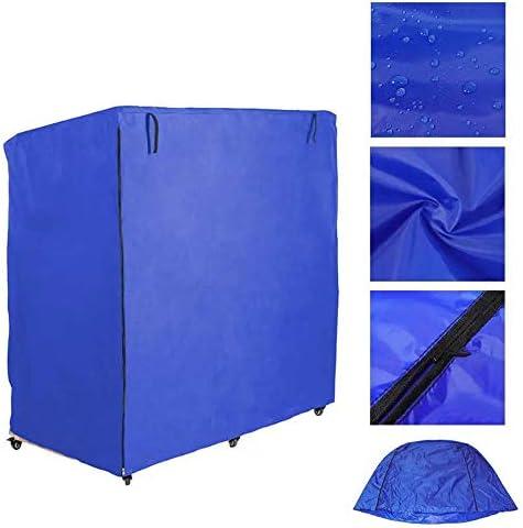 家具ダストカバー ブルーテラスビーチチェア防水カバーオックスフォード600Dポリエステル繊維家具防塵防雨日焼け止め 幅広い用途 (色 : Blue, Size : 120cm)