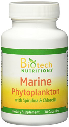 Biotech Nutritions Marine Phytoplankton With Spirulina And Chlorella Vegetable Capsule  30 Count