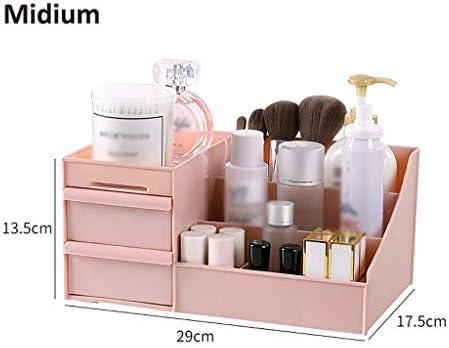 BZM-ZM 新聞ラックデスクトップ新聞ラック、多機能オフィス用品オーガナイザー化粧品の香水ケース化粧新聞ラック引き出し×3(カラー:C1、サイズ:ミディアム)