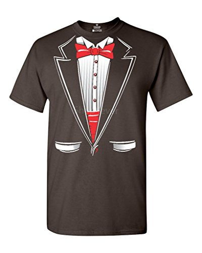 Chocolate M&m Dark Costume (Shop4Ever Tuxedo Costume T-shirt Funny Shirts Medium Dark Chocolate)