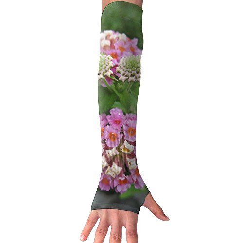 Bright Colored Flower.jpeg Ultra Long Non Finger UV Resistant Gloves Gloves Sleeve, For Women And Men To Provide Sunscreen Protection 1 Pairs, For Outdoor Sports, Driving, Bicycles by WEIFG