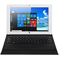 iRULU Walknbook 10.1 Inch, 32GB Hybrid, 2-In-1, Microsoft Windows 10 Operation System, Quad Core, 1280 by 800 Resolution Tablet PC, Detachable Keyboard with Stand - Gold