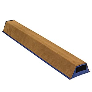 Best Choice Products (4ft Gymnastics Sectional Floor Balance Beam w/Velcro Attachments (Tan)