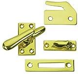 Deltana CF66 Medium 4 Piece Solid Brass Window Casement Fastener, Oil Rubbed Bronze