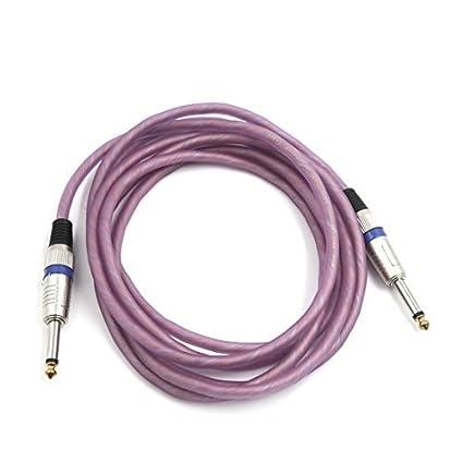 Amazon.com: DealMux 10 pés-de-rosa 6,5 ??milímetros TRS macho para macho microfone de áudio estéreo de fios de extensão Cord: Car Electronics