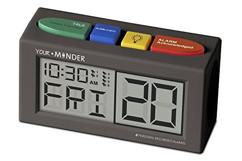 MedCenter Interactive 6 Personalized Alarm Reminder Clock with AC Adapter