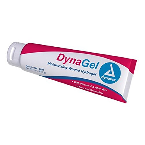 Dynarex 1280 Hydrogel Wound Dressing Gel with Vitamin E and Aloe, 3 oz. Tube