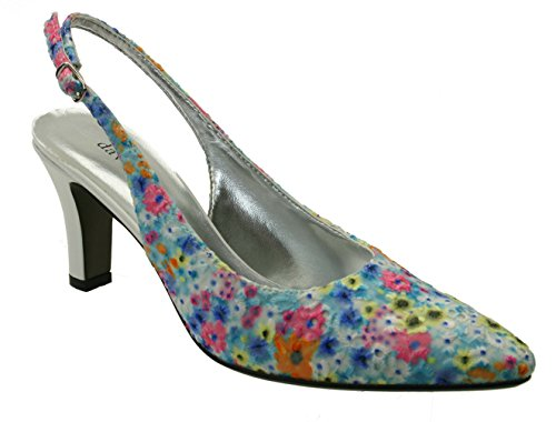 David Tate Women's Lace, Bright Multi, 10.5 WW (EE)