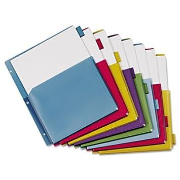 Poly ampliar bolsillo índice separadores para archivador, 8 ...