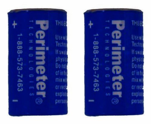 Two Pack Perimeter Pet Fencing Dog Collar Batteries by Perimeter Technologies