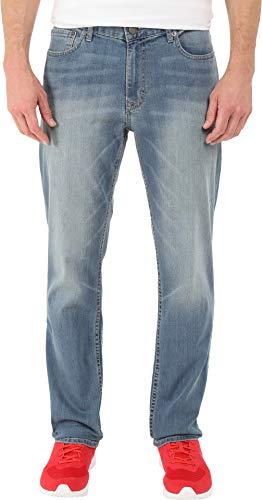 (Calvin Klein Men's Slim Straight Pant, Silver Bullet, 34W x 30L)