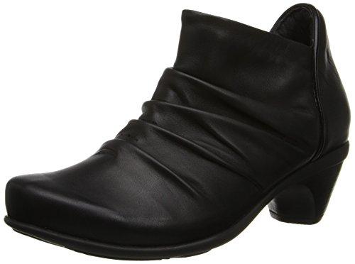 NAOT Women's Advance Boot, Jet Black/Black Madra Leather, 40 EU/9 M (Black Madras)