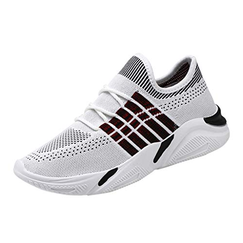 Mysky Fashion Men Popular Leisure Future Element Comfy Breathable Mesh Wild Outdoor Sport Running Sneakers Shoes White ()