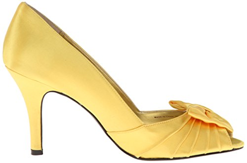 Satin Women's Toe Ys Canary Peep Pump Forbes Nina A0qHwgTq