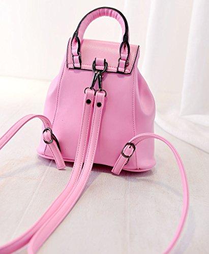 Handbag Turn Lock Backpack Tote Drawstring Womens Catkit Sweet Mini Shoulder Bag Pink Bx6qw7