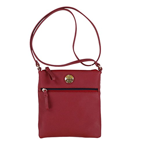 Tommy Hilfiger Pebbled Crossbody Purse (Red)