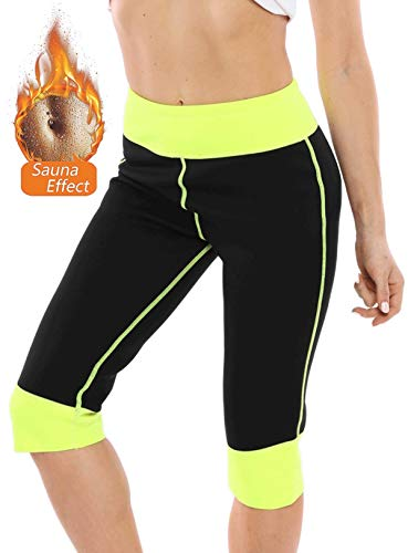 Pneacimi Womens Weight Loss Neoprene Hot Sauna Shorts Workout Thermo Pants with Phone Pockets