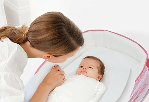 sunveno Infant bebé cuna cama portátil al aire libre co-sleepers plegable cama paquete rosa rosa rosa